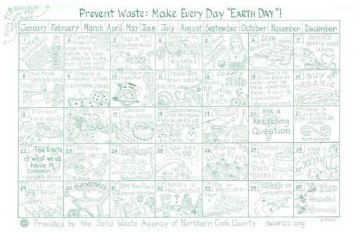 Environmental Tips Calendar