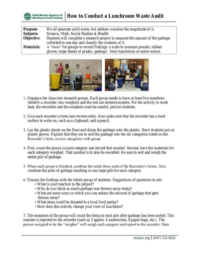 How to Conduct a Lunchroom Waste Audit