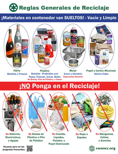 Curbside Recycling Guidelines in Spanish